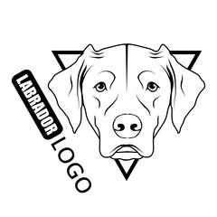 Labrador dog logo. Pet Emblem