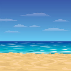 Background with beach