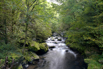 Fotobehang Rivier Rivers at Watersmeet, Lynmouth, Exmoor, North Devon