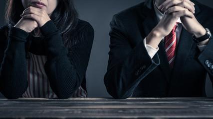 夫婦関係,主婦と会社員,男女イメージ