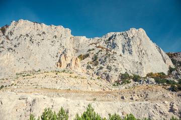 A beautiful mountain landscape.