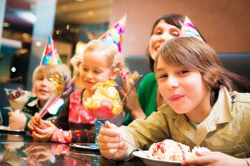 Kids Having a Birthday Party