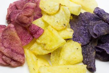 patatas fritas de colores