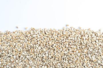 Millet beans on the white