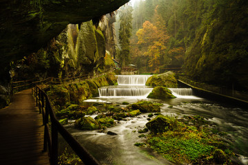 Edmund Gorge is located in the Czech Switzerland National Park