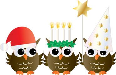 sankta lucia christmas tradition owls