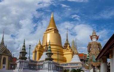 """gold pagoda in grand palace """"wat pra kaew """" bangkok thailand"""