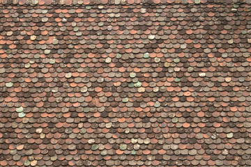 traditional roof tiles in Italy, ancient rain protection