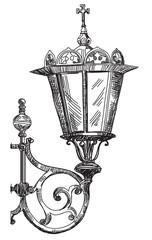 Vector hand drawing lantern