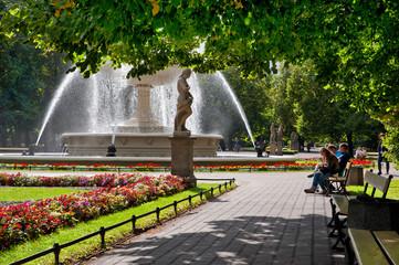 The Saxon Garden in Warsaw