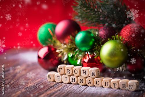 Weihnachten Grüße Bilder.Frohe Weihnachten Gruß Stock Photo And Royalty Free Images On