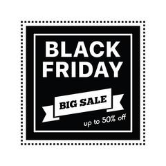 Big sale on black friday shopping on white background vector illustration