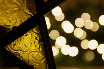 Vitrail et bokeh de Noël