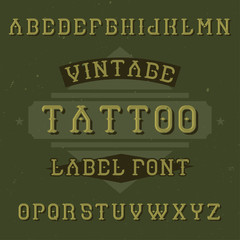 Original label typeface