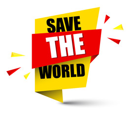 banner save the world