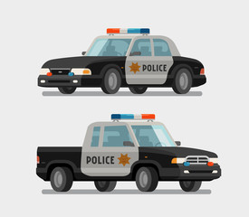 Police car. Vector illustration