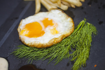 fried egg isolate