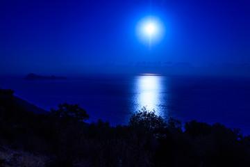 Night View At The Sea