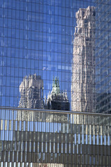 Reflection of the modern building