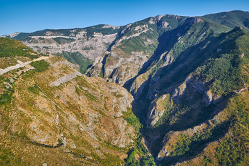 Deurstickers Canyon Views from Tatev Cable Car ropeway in Armenia