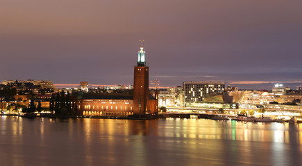 Stockholm City Hall and General view of Stockholm, Sweden