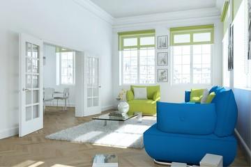 moderne Wohnung im skandinavischen Stil