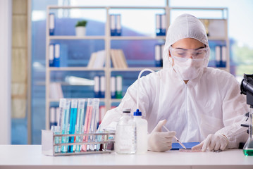 Chemist working in the lab