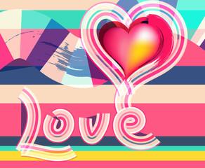 Love, heart shape