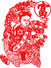 Chinese traditional folk culture Spring Festival stickers