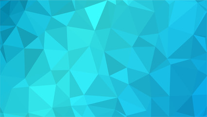 Blue Aquamarin Polygonal Mosaic Background, Creative Design Templates