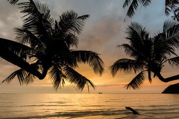 Sunset landscape on Koh Kood