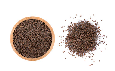 Perilla herb seed on white background