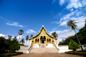 Luang Prabang, Laos - October 20, 2017: Royal Palace Museum of Luang Prabang city in Laos (The Royal Palace Museum)