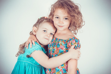two beautiful girlfriends