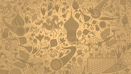 Russian gold wallpaper, vector illustration