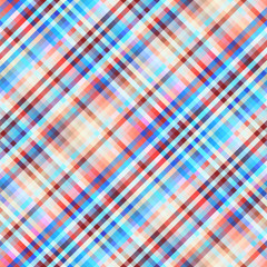 Seamless background. Geometric abstract pattern in low poly pixel art style. Plaid background.