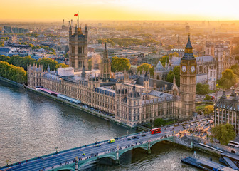Fotobehang Londen Houses of Parliament at sunset