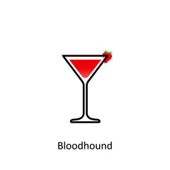 Bloodhound cocktail icon