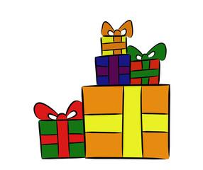 Geschenkestapel