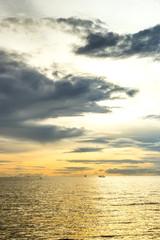 sunset seascape in morning sky