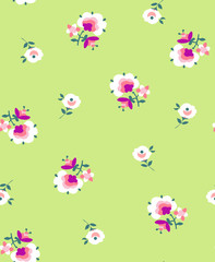 cute ditsy flower print - seamless background