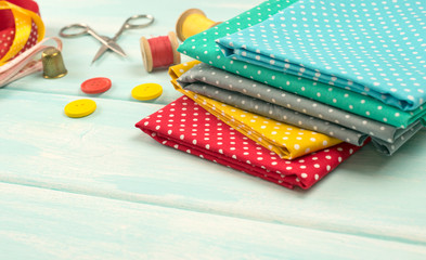 Set of tools for sewing and fabric