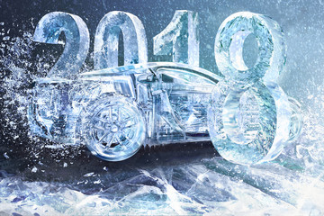 New year concept car auto, 2018