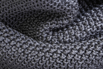 Forms of gray fabric texture