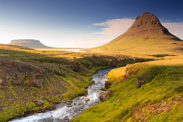 Different perspective of famous Kirkjufell