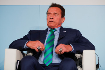 Former California governor and 'Mr. Universe' Arnold Schwarzenegger attends the COP23 UN Climate Change Conference 2017, hosted by Fiji but held in Bonn