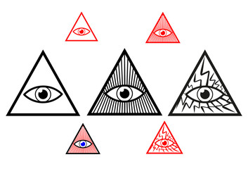 Divine eye, All Seeing Eye of God, Eye of Providence,