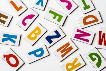 colorful letters consonats