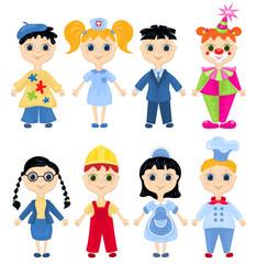 Set of profession cartoon characters.