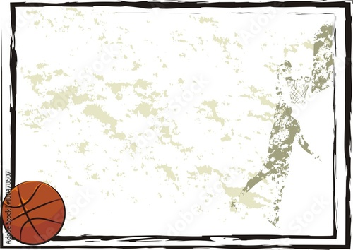 basketball frame, background, banner\